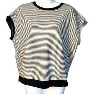 Joe's Jeans Black and White Striped Top M